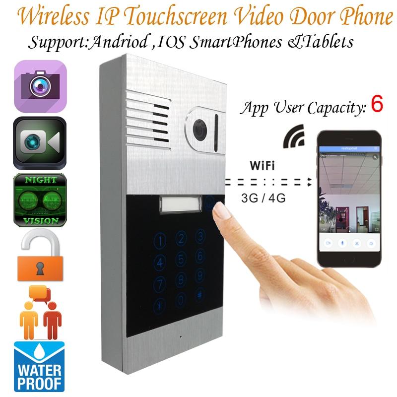 Touch screen Global Wifi Video Door Phone Doorbell Intercom Wireless IP Interfone Peephole Camera Viewer Flush Mounting global global adv workbook