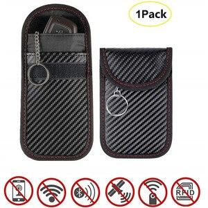 Signal Blocking Bag for phone Car Key Case RFID Anti-Scanning Shielding Case Anti-Magnetic Radiation Protection 3G 4G Block case(China)