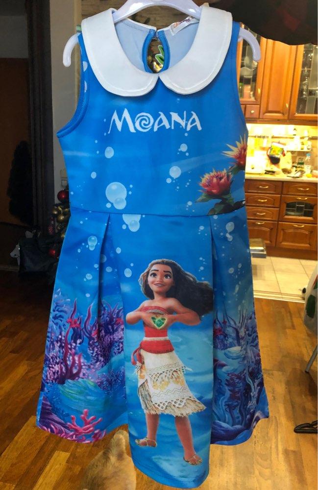 Moana Dress Children Clothing Summer Sleeveless Dresses Baby Girl Princess Birthday Party Costume Dress Kid Girls Casual Clothes