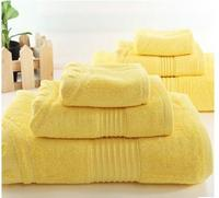 3pcs/set 100% Cotton yellow towel sets Adults Home towel 80x40cm and Bath Towel 150x80cm and face towel 35*35cm household used