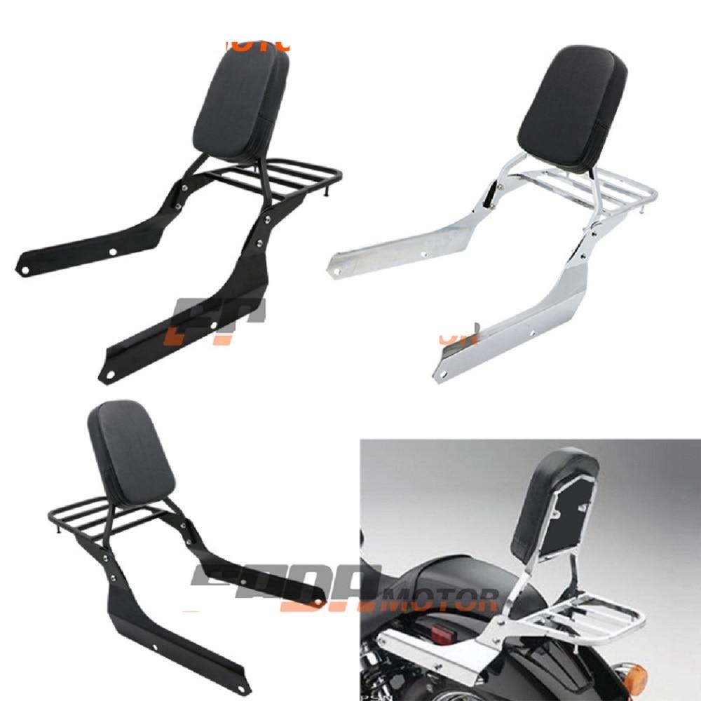 Backrest Sissy Bar Luggage Rack Cushion Pad for Honda Shadow VT750C2 Spirit 2007-2014 VT750C2B Phantom 2010-2015