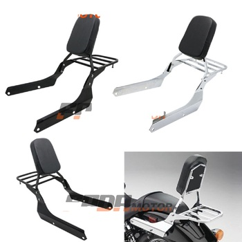 Backrest Sissy Bar Luggage Rack Cushion Pad for Honda Shadow VT750C2 Spirit 2007-2014 VT750C2B Phantom 2010-2015