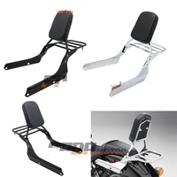 Backrest Sissy Bar Luggage Rack Cushion Pad for Honda Shadow VT750C2 Spirit 2007 2014 VT750C2B Phantom 2010 2015