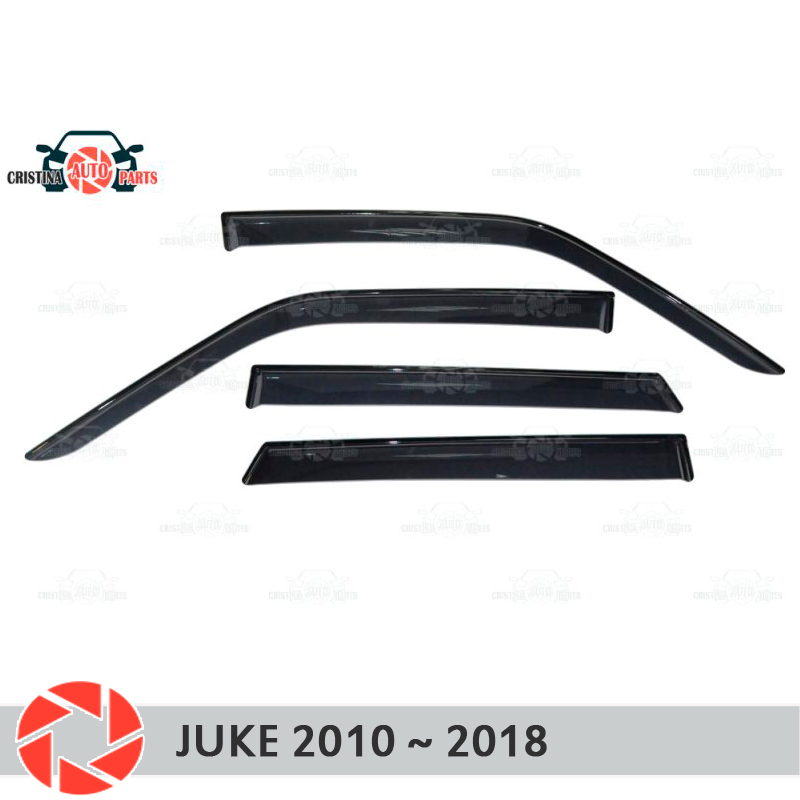Deflector de ventana para Nissan Juke 2009 ~ 2019, deflector de lluvia, accesorios de decoración de estilo de coche, moldura