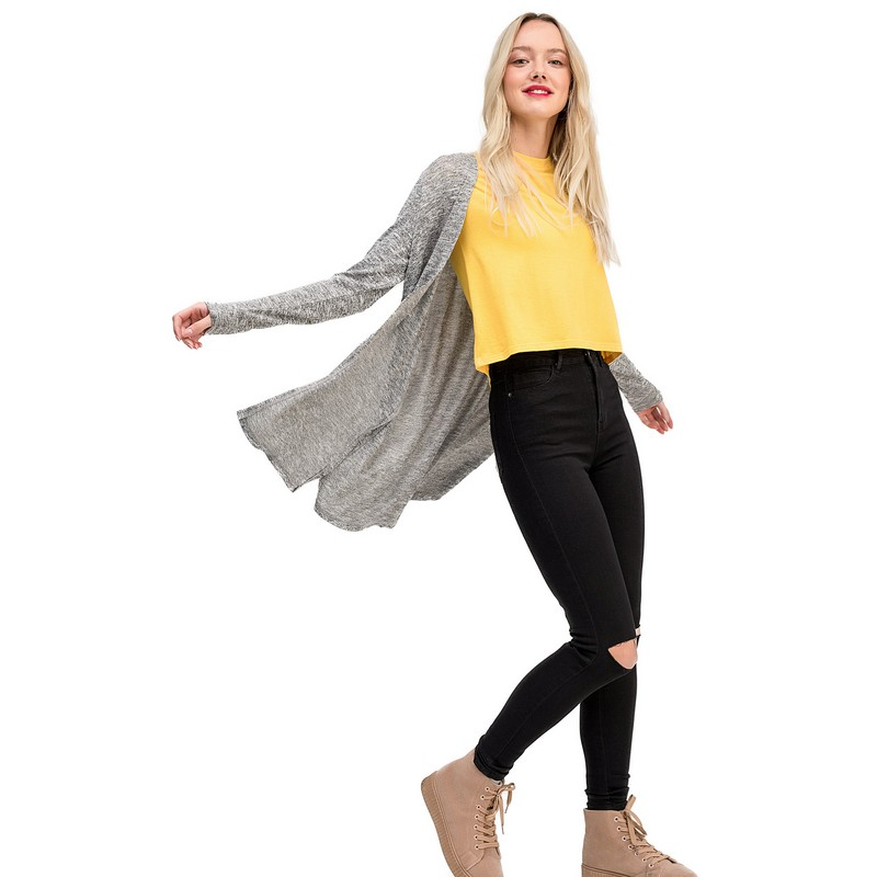 Sweaters cardigan befree for female polyester sweater long sleeve women clothes apparel  cape coat 1811466853-38 TF trendy scoop collar long sleeve black loose fitting sweater for women