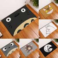Welcome Waterproof Door Mat Cartoon Cute Totoro Kitchen Rugs Bedroom Carpets Decorative Stair Mats Home Decor Crafts