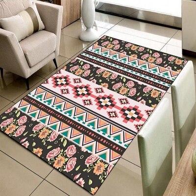 Autre Aztech ethnique authentique persan rouge vert 3d impression antidérapant microfibre salon décoratif moderne lavable zone tapis