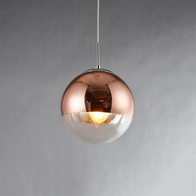 High Quality Northern Europe Retro Creative Concise Rose Gold Pendant Lamp Cafe Bar  Restaurant Aisle Livingroom Decoration Lamp