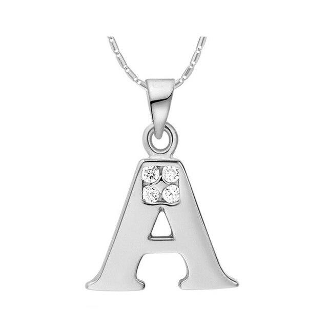 Joyas Vintage Unisex Letters Zirkon necklace Pendant Unusual Gifts for Women CZ Zircon Silver Color Red Jewelry 15% Off N959