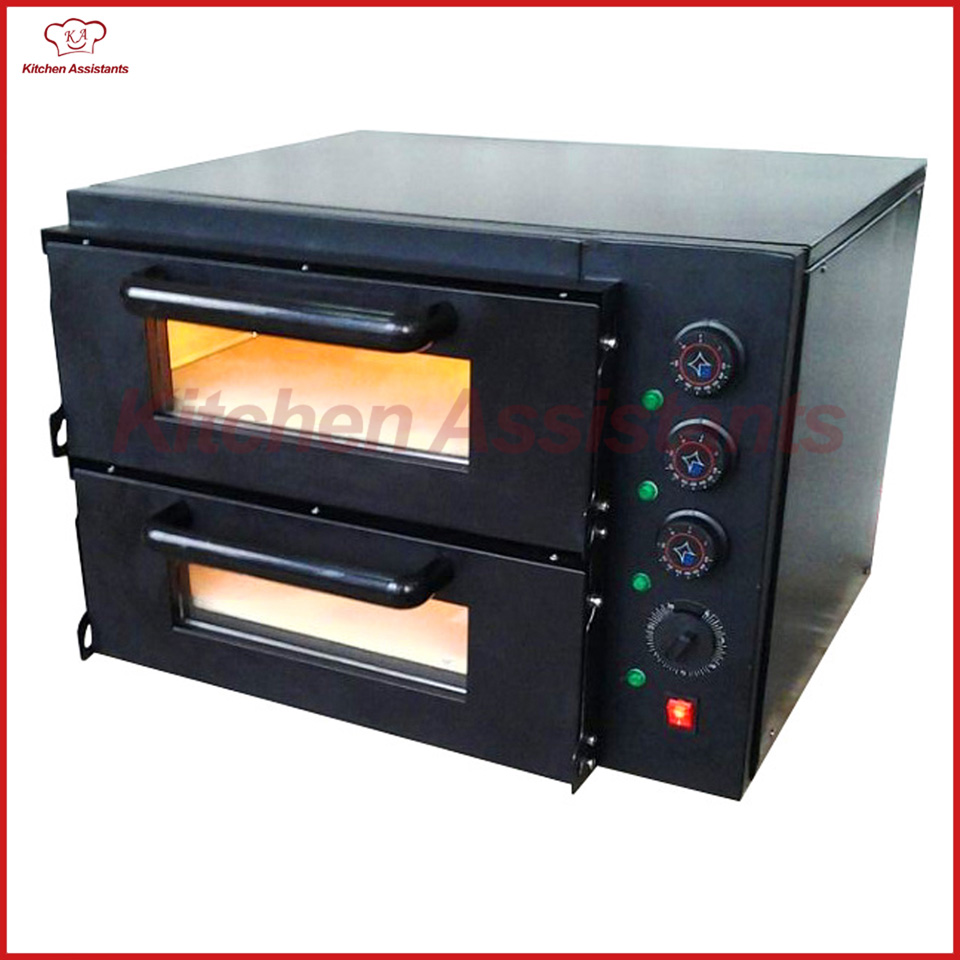 NB300 Economic 2 deck Stone Pizza Bread Baking Oven of bakery equipment economic methodology