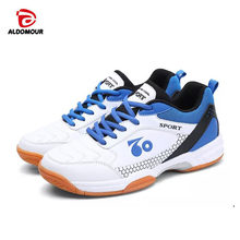 super popular 025aa 6304a ALDOMOUR Men Professional Volleyball Shoes 2018 Anti Slipper Hard-Wearing  Sports Shoes Table Tennis Shoes Blue Black Red Color