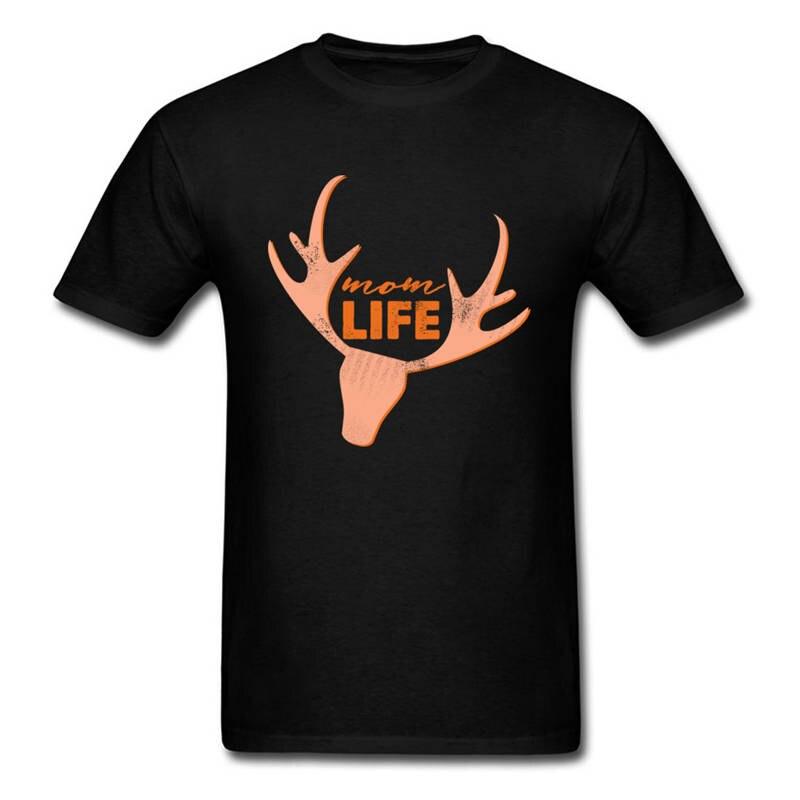 Tee Shirt Топы Дизайн Мужчины Шеи Экипажа Мальчик Мама Жизни Рога С Коротким Рукавом Футболки