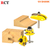 3pcs 1 4 Round Rail Stile Router Bits Set Cove Raised Panel Tools Wood Cutting High