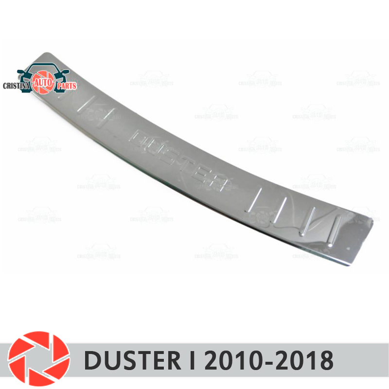 Plate cover rear bumper for Renault Duster I 2010-2018 guard protection plate car styling decoration accessories molding stamp
