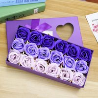 NEW 18 Gradient Colors Soap Flowers Romantic Rose Flowers Gift Box Birthday Valentines Day Gifts Wedding