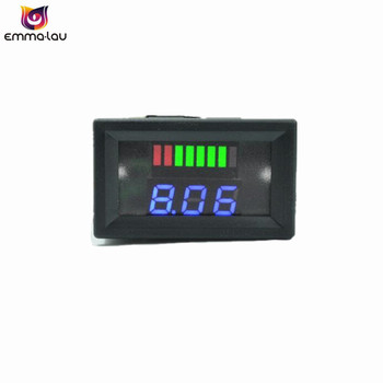 DC 36V Lead-acid Batteries Indicator LED Blue Display Battery Capacity Tester Car Voltage Acid Lead Analyzer image