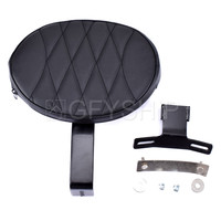 For Harley Fatboy Heritage Softail FLSTC 2007 2015 2016 2017 Motorcycle Adjustable Leather Plug In Driver Rider Backrest Pad