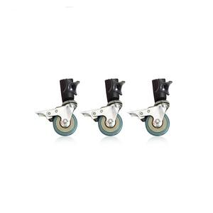 Image 1 - Konseen 3PCS Photo Studio Universal 22mm Caster Wheel for lighting stand Photo Studio Accessories Free Shipping