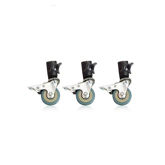 Konseen 3PCS Photo Studio Universal 22mm Caster Wheel for lighting stand Photo Studio Accessories Free Shipping