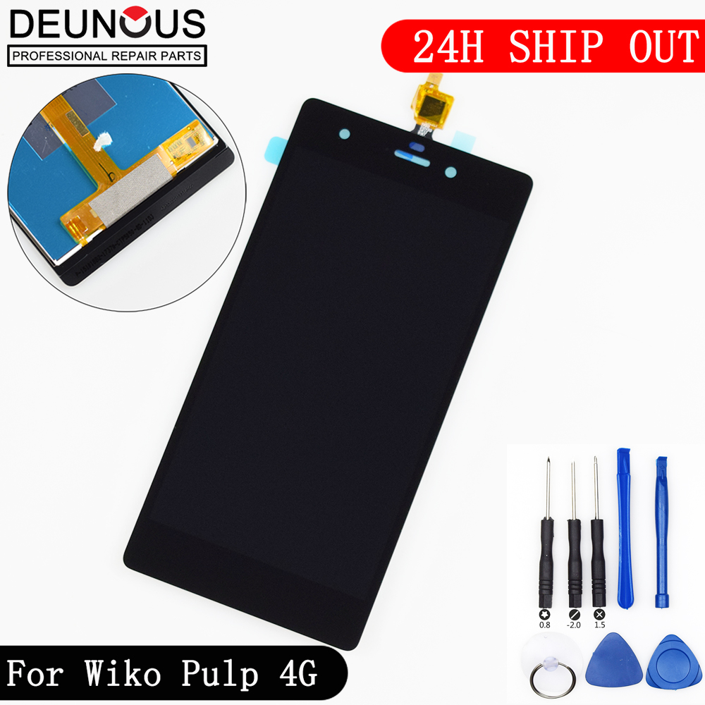 New For Wiko Pulp 4G LCD Display + Touch Screen digitizer Assembly For Wiko Pulp 4G Touch Pannel Free Shipping with ToolsNew For Wiko Pulp 4G LCD Display + Touch Screen digitizer Assembly For Wiko Pulp 4G Touch Pannel Free Shipping with Tools