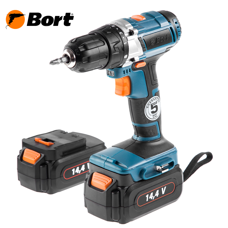 цена 14V Bort Ni-Cd Battery Electric Drill Cordless Screwdriver Mini Drill Cordless Screwdriver Power Tools Cordless Drill BAB-14Ux2-FDK онлайн в 2017 году