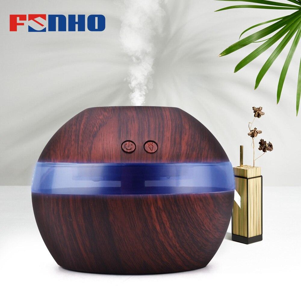 FUNHO 300 ml Aroma de aire humidificador de difusor de aceite esencial de aromaterapia de luz de la noche ultrasónico clásico fabricante de la niebla para casa 001