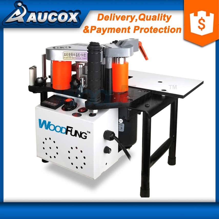 WF102B woodworking wood PVC portable edge banding machine straight and arc shape
