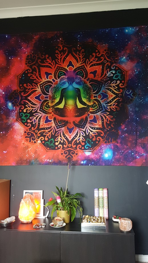 Tapeçaria Estrelada Galaxy Psychedelic