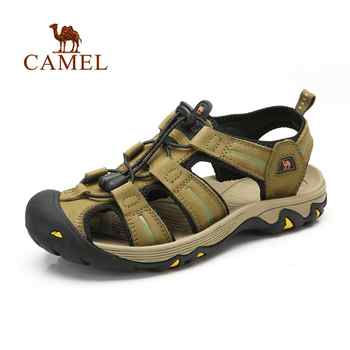 CAMEL Men & Women Genuine Leather Beach Sandals Light Anti-Collision Waterproof Durable High Quallity Outdoor Sandals - SALE ITEM Sports & Entertainment