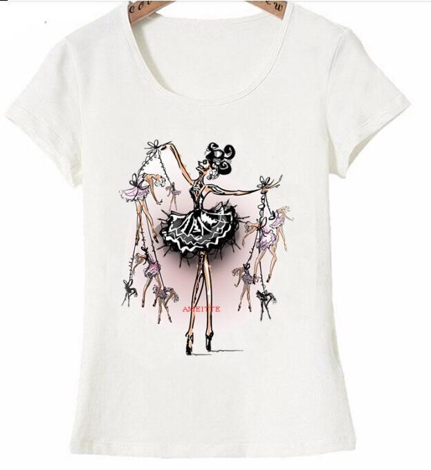 Mode d t femmes T Shirt marionnette ma tre femme T Shirt mignon fille d contract