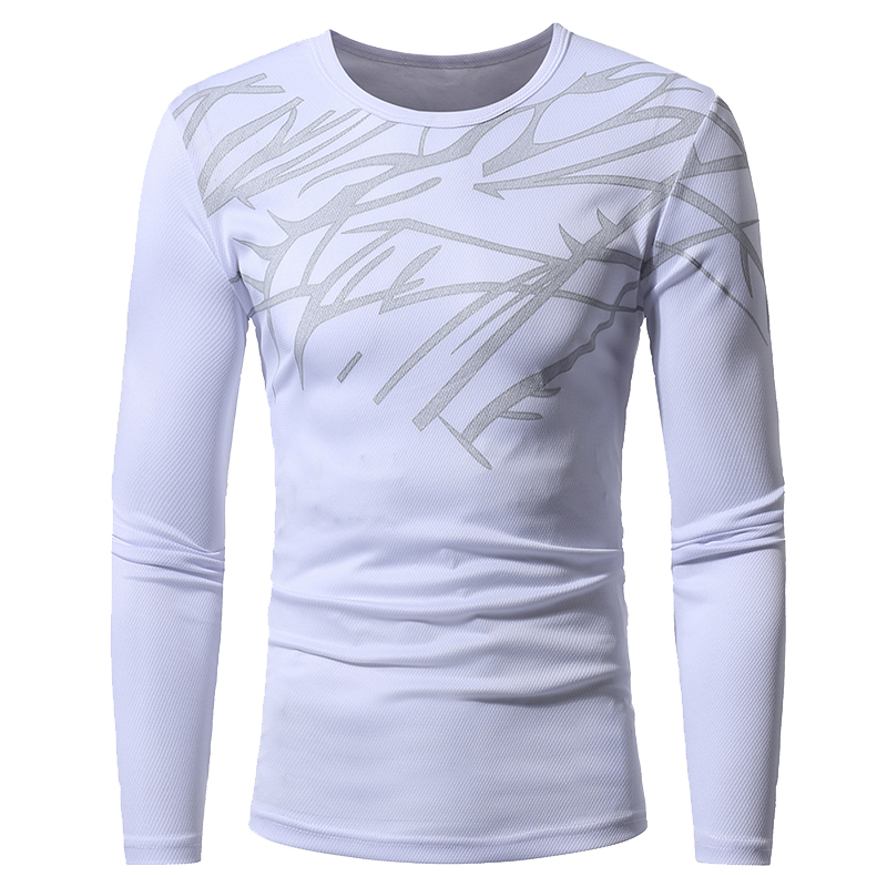 8f1f55ada58 Vertvie Printed Men s T shirts Running Training Sportswear Elastic  Breathable Anti sweat Sports Suit Pullovers Tops Man Jerseys-in Running T- Shirts from ...