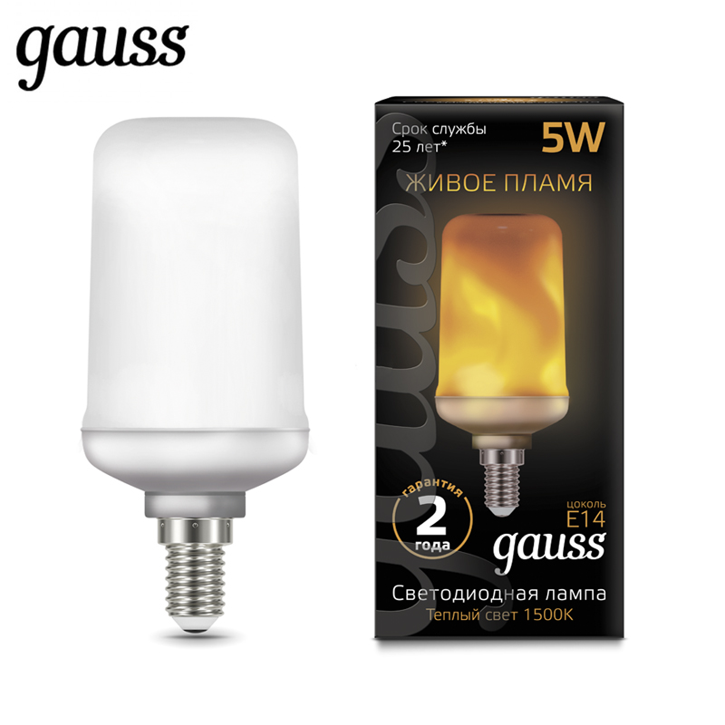 Lampe à LED ampoule flamme maïs diode T65 E27 E14 5 W 1500 K froid neutre lumière chaude Gauss Lampada lampe ampoule bougie boule globe