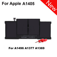 7.6V 55WH 4cells Black Laptop Battery Replace For Apple Macbook Air A1377 A1496 A1405 A1369 A1466 Macbook battery SZ