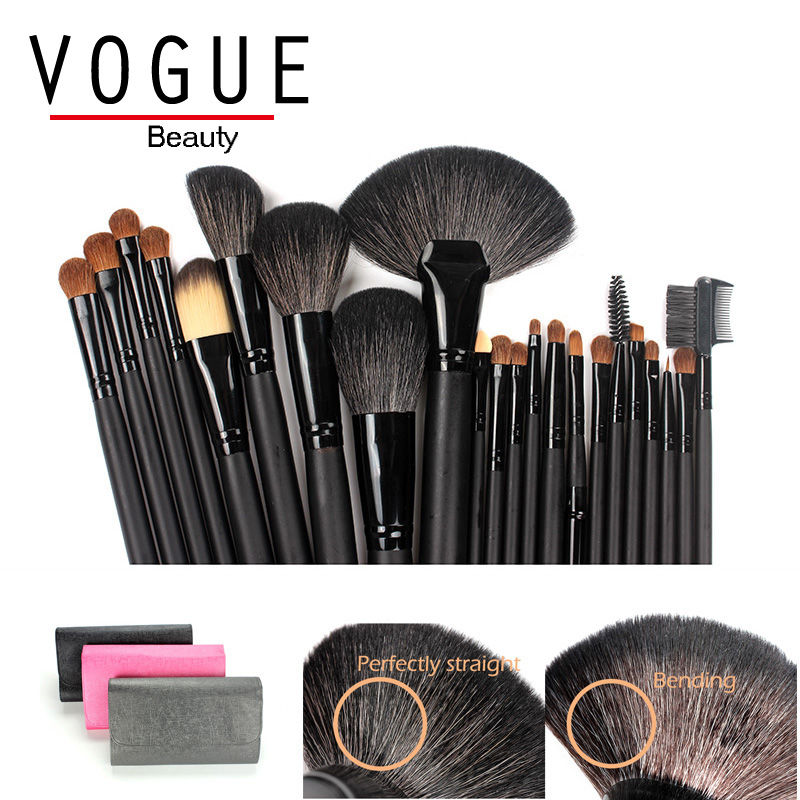 22 Pcs/set Natural Animal Goat Hair Make up Brush Professional Cosmetics Makeup Brush Set bag Foundation Powder face eye brushes 15 pcs nylon face eye lip makeup brush set page 3