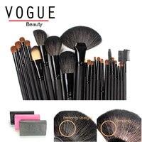 22 Pcs/set Natural Animal Goat Hair Make up Brush Professional Cosmetics Makeup Brush Set bag Foundation Powder face eye brushes