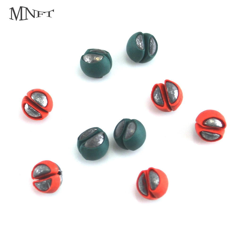 MNFT 120PCS/Lot New! Fishing Angling Lead Weight Split Shot Bullet PU Rubber Protect Rig Sinkers Bite Clip