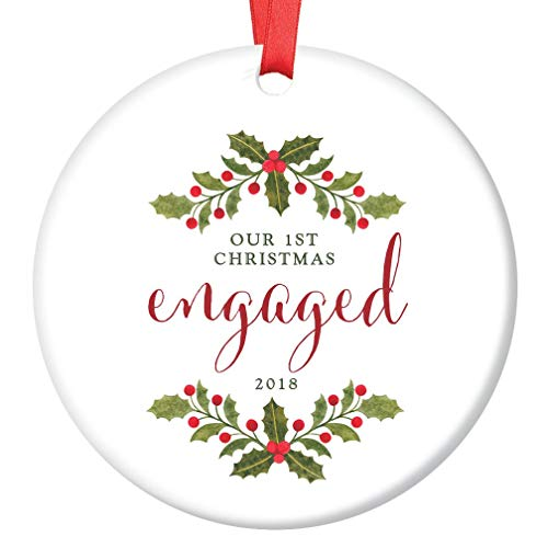 Us 16 99 First Christmas Engaged Ornament Engagement Gift Porcelain Ceramic Ornament Soon To Be Mr Mrs Christmas Tree Decoration In Pendant