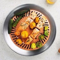 2 Pcs Stovetop Grill Titanium And Ceramic Non Stick Smokeless Stove Top Grill Healthy Indoor Kitchen