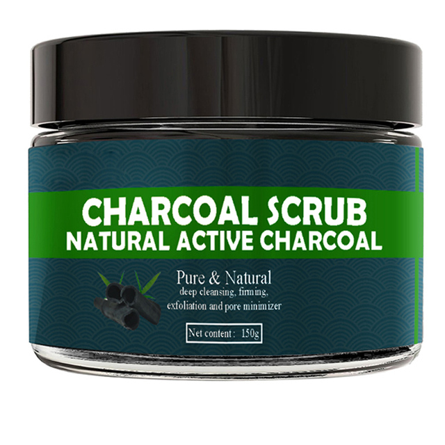 Natural Active Charcoal Deep Cleasing Exfoliating Body Scrub