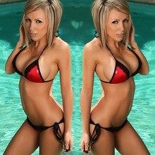 SWIMMART bikini lace double pleated swimsuit swimwear women high waist bikini bathing suit swimming suit bikini push up bikinis black bikini suit with lace up design