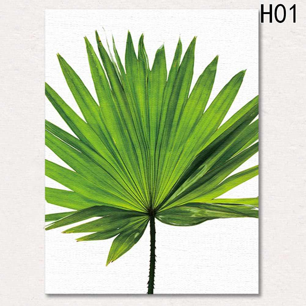 Nordic Minimalist Canvas Print Posters Green Tropical plants Palm leaves  on canvas wall picture Living Room Home Decor No frame