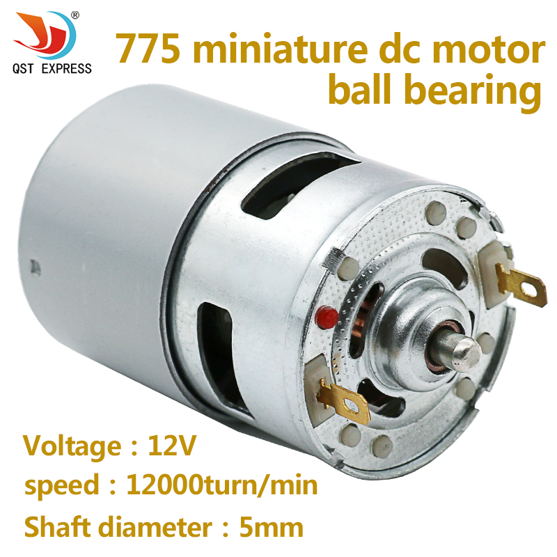High power 775 Motor DC 12V 12000turn/min Large Torque Motor Ball Bearing Tools For DIY Driver Parts high power 12v 24v dc motor 775 large torque ball bearing tools low noise