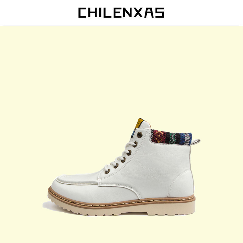 CHILENXAS 2017 New Fashion Winter Leather Shoes Men Casual Waterproof Warm Snow Boots Men Cow Split Height Increasing Breathable 2017 new autumn winter british retro men shoes zipper leather breathable sneaker fashion boots men casual shoes handmade