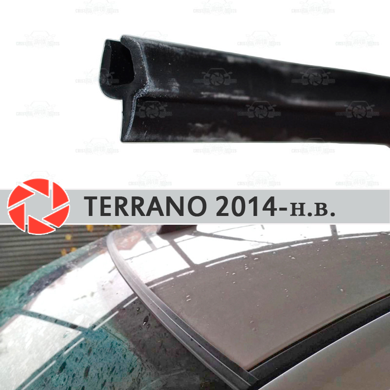 Windshield deflectors for Nissan Terrano 2014-2019 windshield seal protection aerodynamic rain car styling cover pad
