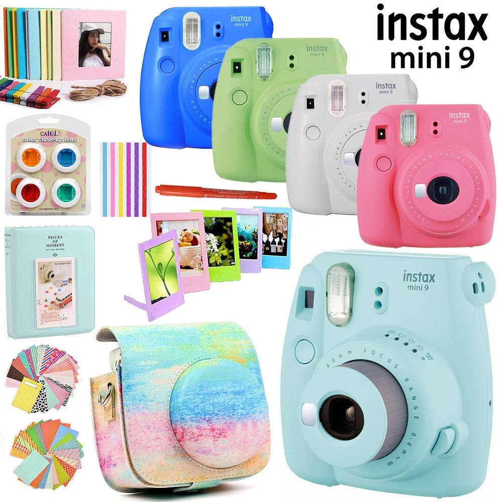 Fujifilm Instax Mini 9 Camera Only With 50 Sheets White Mini Film Photos 13 In 1