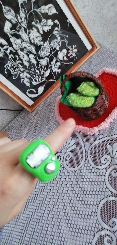 счетчик строк крючком; палец кольцо Tally счетчик; палец кольцо Tally счетчик;