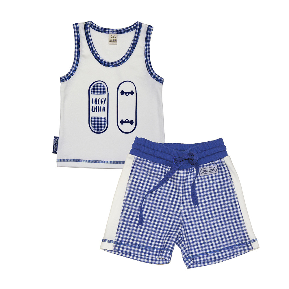 Pajama Sets Lucky Child for boys 13-411 (3T-8T) Children clothes kids clothes summer child suit new pattern girl korean salopettes twinset child fashion suit 2 pieces kids clothing sets suits