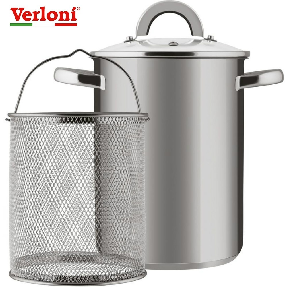 Pan Verloni VL-ST4I3S93 Турин, with mesh for cooking, 4,2 L Home kitchen set pan stainless steel with glass cover Cooking pots and pans Fryer spaghetti spaghetti straps scalloped bikini set