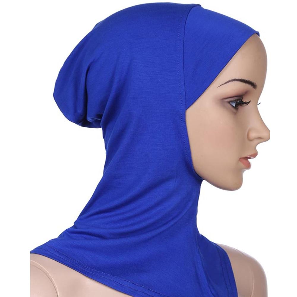 Image 2 - Women Caps Ninja Head Cover Bonnet Hat Underscarf Muslim New  Style Scarf Amira Arab Islamic Beanies Skullies Neck Cover  FashionWomens Skullies