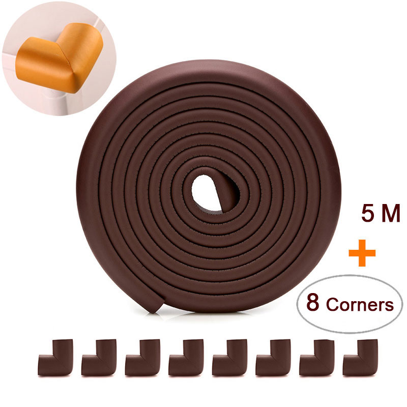 5 M+8pcs Corners Child Protection Corner Protector Baby Safety Guards Edge & Corner Guards Angle Form Free Tape Wholesale